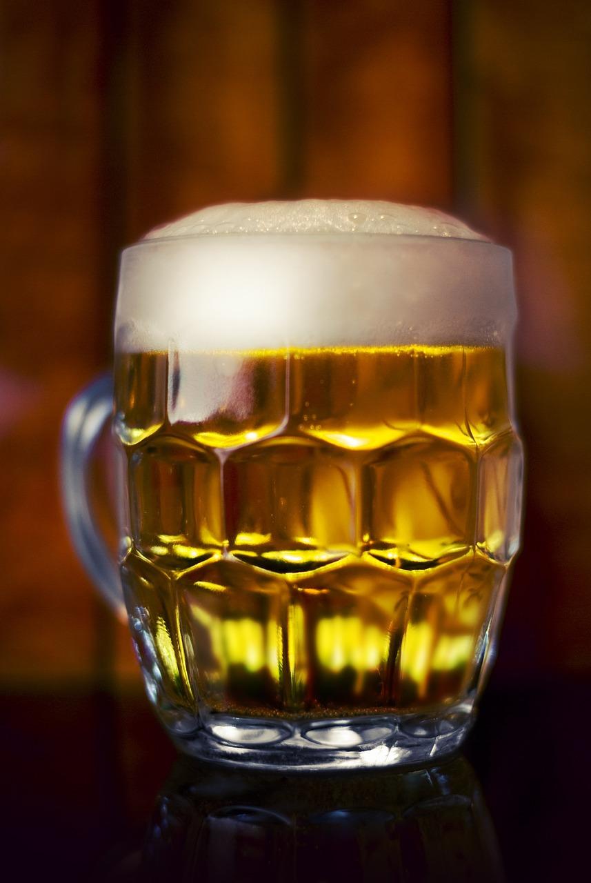 beer, glass, drink